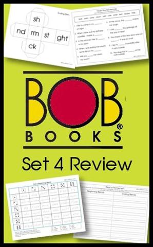 BOB Books Set 4 Review Printables