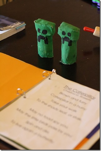 Minecraft Creeper Paper Mache craft