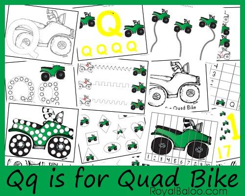 Qq is for Quad Bike