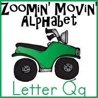 Qq is for Quad Bike - part of the Zoomin Moving ABCs printables