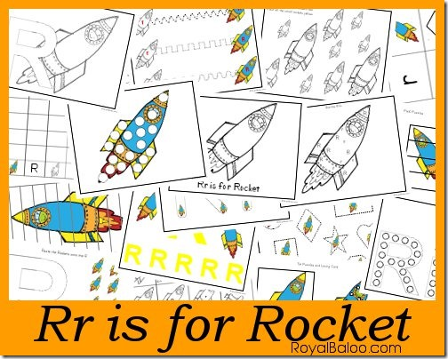 Rr is for Rocket - part of Zoomin Moving ABCs