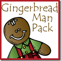 Free Gingerbread Man Packs Tot, PreK, and Kindergarten through 2nd