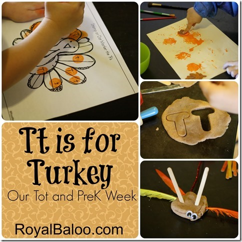 Tt is for Turkey - PreK and Tot Round Up