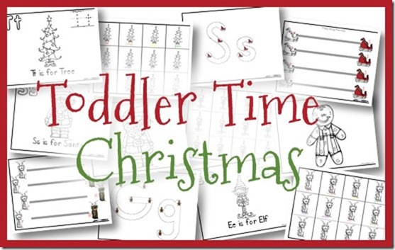 free christmas toddler printables ee is for elf gg is for gingerbread rr - Free Toddler Printables