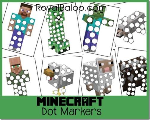 Minecraft Dot Marker Printables