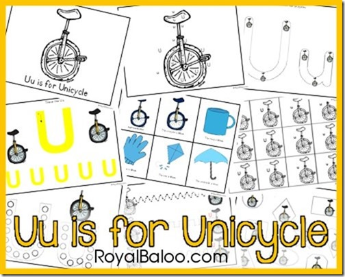 Letter Uu is for Unicycle: Part of Zoomin Moving ABCs