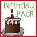 Free Birthday Pack–K-2nd