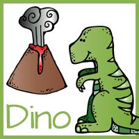Dinosaur Calendar Cards