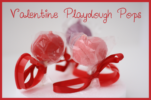 Valentine's Day Play Dough Pops