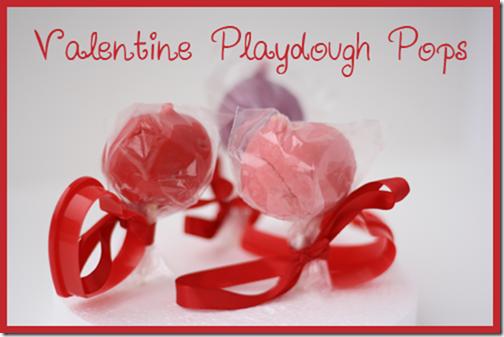 Valentine Play Dough Pops