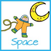 Space Themed Calendar Cards