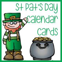 St Patrick's Day Calendar Cards
