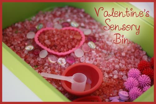 Vanentines Day Sensory Bin
