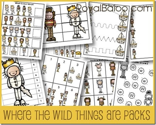 Where the Wild Things Are PreK Pack