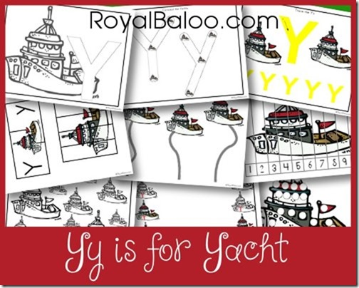 Yy is for Yacht Free Printables