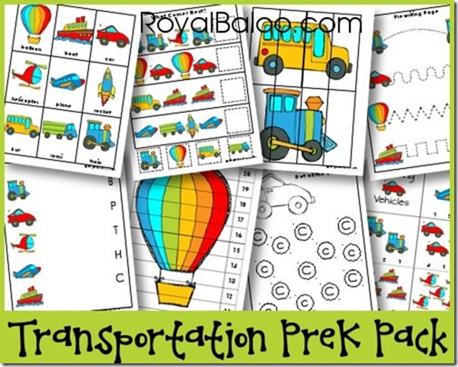 Transportation PreK Pack
