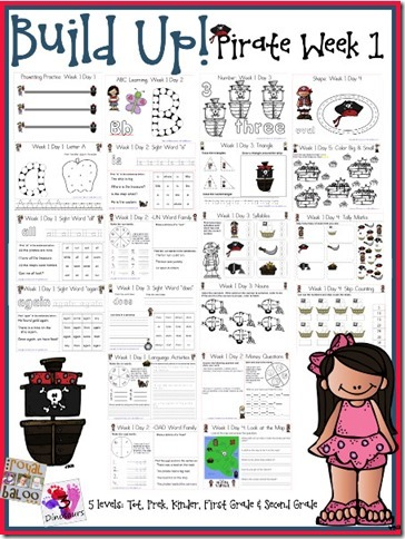 Build Up to Summer Learning printables for toddlers, preschool, kindergarten, first grade, and second grade