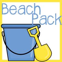 Beach Packs for Tot, PreK, and K-2nd