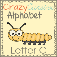 Free Cc is for Caterpillar–Crazy Cursive ABCs!