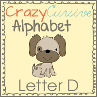 Free Dd is for Dog Cursive Pack