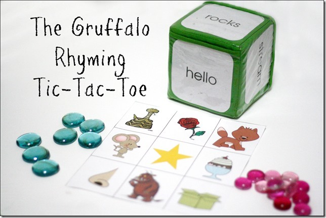 graphic relating to Rhyming Game Printable titled The Gruffalo Rhyming Tic-Tac-ToeVirtual Reserve Club for Children