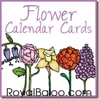 Flower Calendar Cards