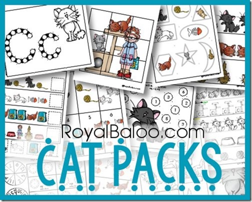 Free Cat Packs, Tot, PreK, K-2nd