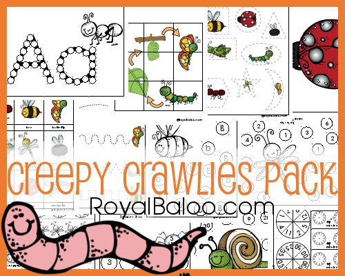 Bugs, bugs, bugs! Get some fun, clean, and safe bug learning fun in with these buggy printables!
