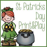 Free St Patricks Day Print & Play Kindergarten through 2nd Grade
