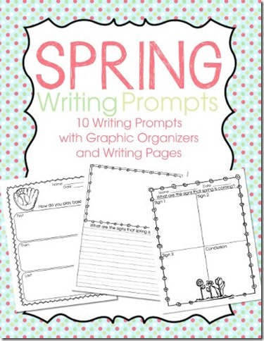 Spring Writing Prompts on TPT $4