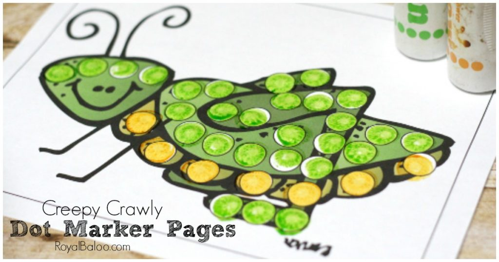 Creepy Crawly Dot Markers Free Printables Royal Baloo