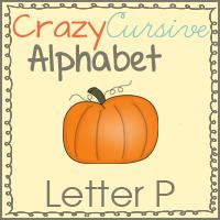 Pp Is For Pumpkin Crazy Cursive Alphabet
