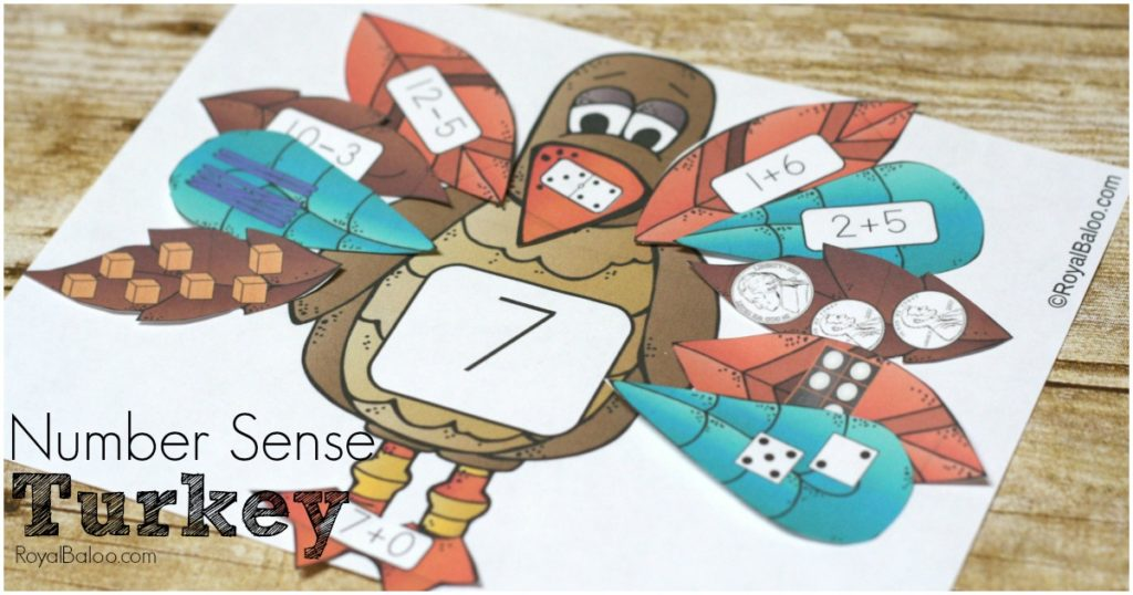Number sense is more fun with Turkeys! Addition, subtraction, tally marks, base 10, and more ways to practice numbers! Turkey number sense!