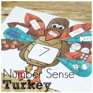 Turkey Number Sense for Fun Preschool Math