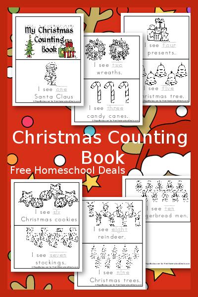 My Christmas Counting Bok Free Printable