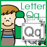 Dot Marker ABCs Letter Qq for Quilt