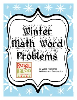 Winter Math Problems up to 20!