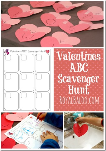 Valentines Day ABC Scavenger Hunt