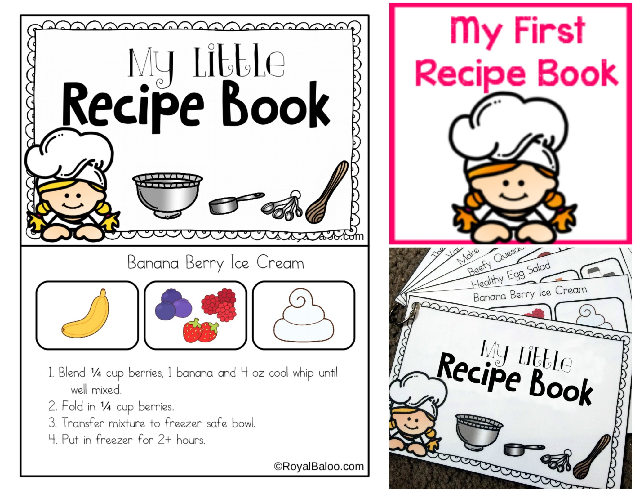 My Little Recipe Book - First recipe book for young kids featuring easy to make meals!