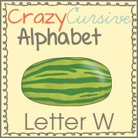 Crazy Cursve Alphabet Letter Ww