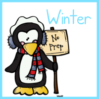 Winter First Grade No Prep Math Printables