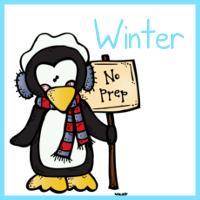 Winter First Grade No Prep Math Printables