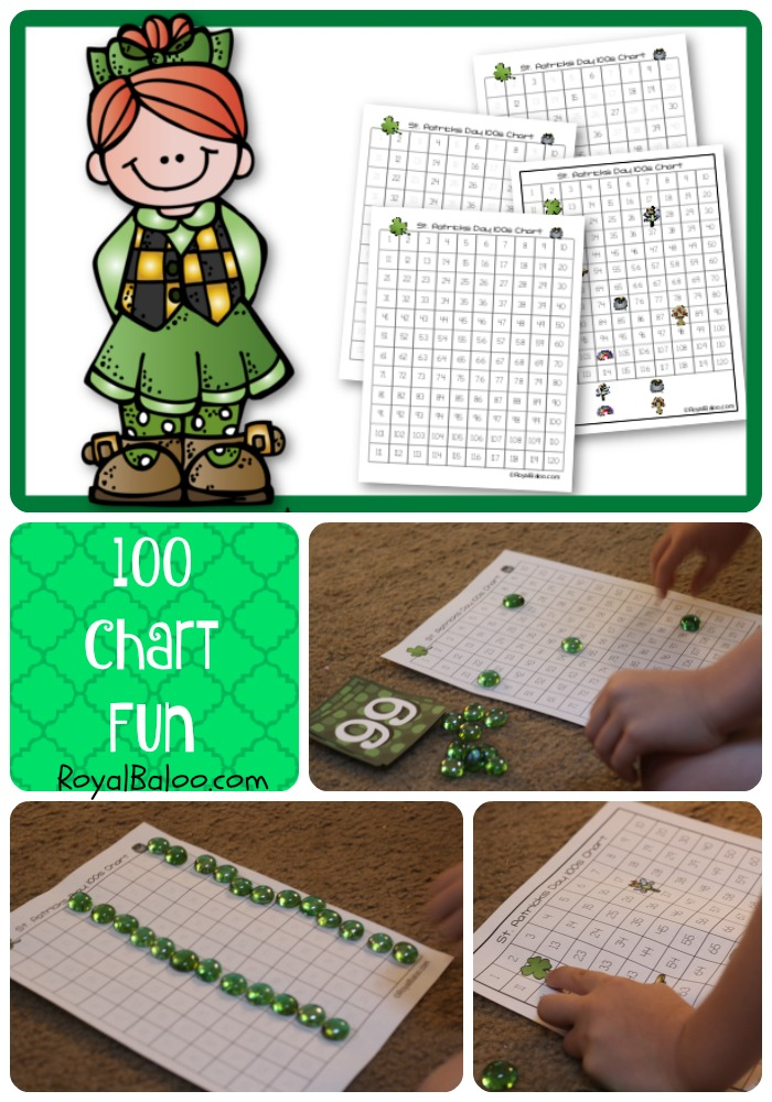 St. Patricks Day fun with 100s Chart.