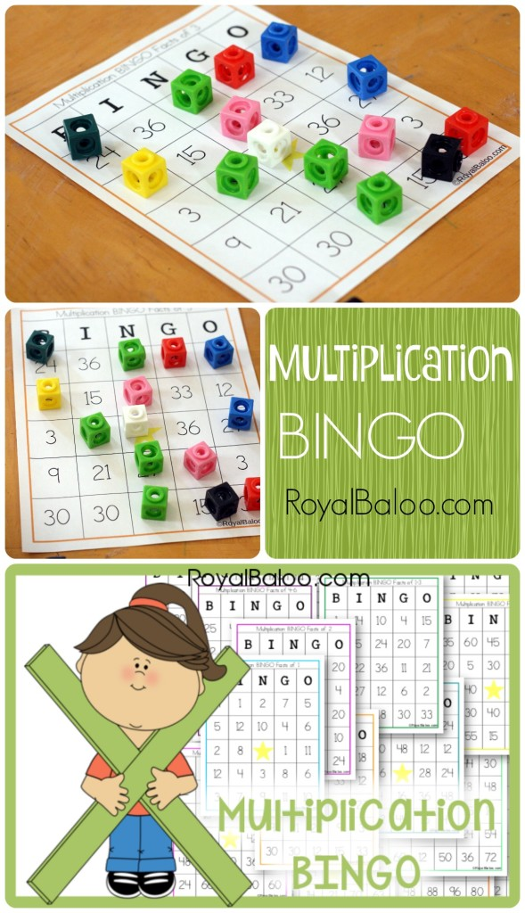 Multiplication BINGO Cards - Free!  Practice multiplication facts 1 through 12