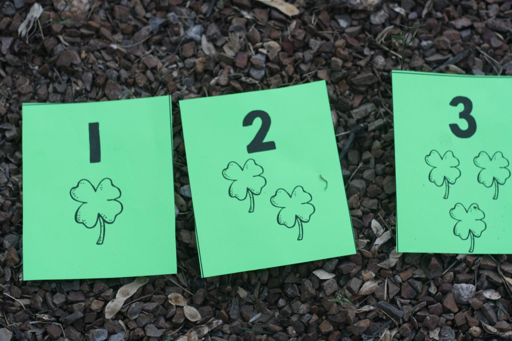 St. Patricks Day Number Line