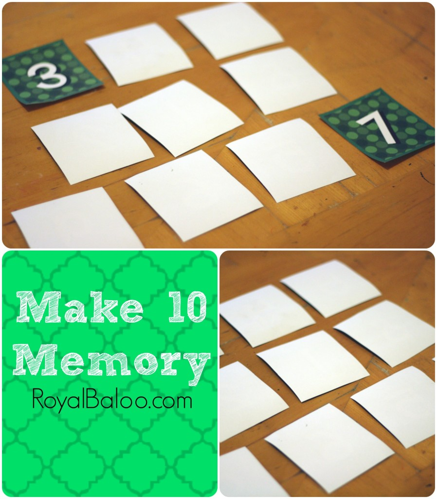 Make 10 Memory Addition Fact Practice