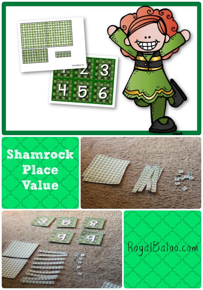 Shamrock Place Value Manuipulatives