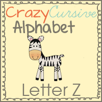 Zz is for Zebra Crazy Cursive Alphabet