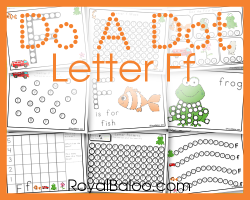 Do a Dot Letter Ff set. 28 pages of fun do a dot marker ABC practice! Free!