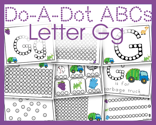 Do a Dot Letter Gg Free Printables for Letter Practice